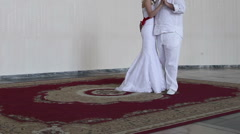 bride dancing with her fiance - stock footage