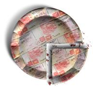 Slice of hong kong dollar money pie Stock Illustration