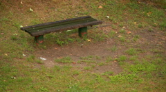 Raining in park  Stock Footage