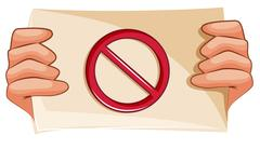 A banned sign - stock illustration