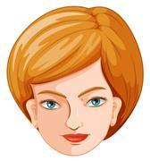 A head of a hostess - stock illustration