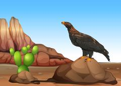 An eagle Stock Illustration