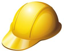 A yellow safety helmet Stock Illustration