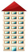 Tall building - stock illustration