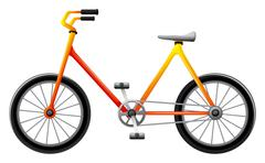 A bicycle - stock illustration