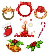 Christmas decors Stock Illustration