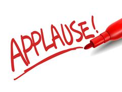 Stock Illustration of the word applause with a red marker