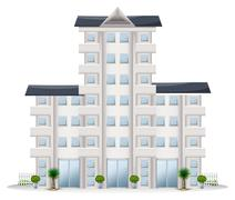 A tall establishment - stock illustration