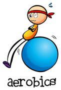 A stickman doing an aerobics - stock illustration