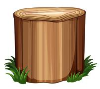 A stump with weeds - stock illustration