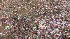 Wedding confetti and flying stars Stock Footage
