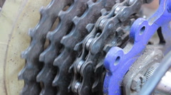 Bicycle Chain Stock Footage