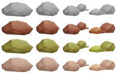 Stock Illustration of Different rocks