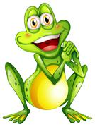 A cheerful green frog Stock Illustration