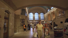 Grand Central Station Terminal People Crowded New York City Manhattan 4K Travel Stock Footage