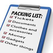 Stock Illustration of packing list clipboard