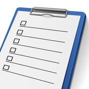 Stock Illustration of blank checklist clipboard