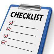 blank checklist clipboard - stock illustration