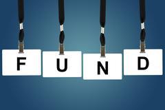 fund word - stock photo