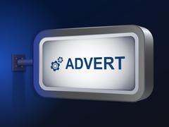 Advert word on billboard Stock Illustration