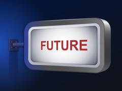 Future word on billboard Stock Illustration