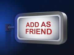 Stock Illustration of add as friend words on billboard