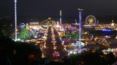 4K FHD Aerial Munich Beer Festival Oktoberfest Octoberfest Carnival Fairground Stock Footage