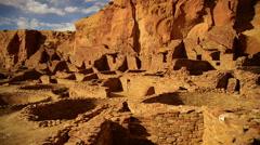 Chaco Culture 43 Time Lapse Pueblo Bonito Native American Ruins Stock Footage