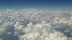Sky view from inside the air plane Stock Footage