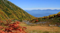 Autumn in the Central Alps, Japan. Stock Footage