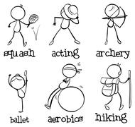 Different activities Stock Illustration