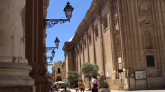 Downtown of Marsala city. Sicily Stock Footage