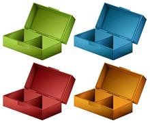 Coloured boxes Stock Illustration