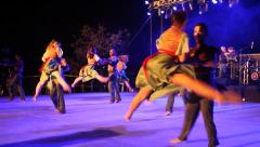 Dancers perform nostalgic Israeli folk dances during Harvest Festival Stock Footage
