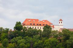 ancient castle spilberk, brno, czech republic - stock photo