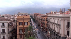 Types of Palermo aerial view. Sicily, Italy. Stock Footage