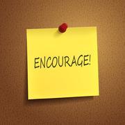 Encourage word on post-it Stock Illustration