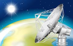 A satellite in the outerspace Stock Illustration