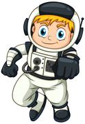 A male astronaut - stock illustration
