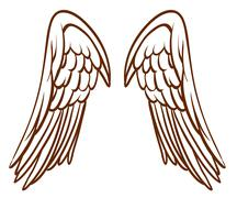 A simple sketch of an angel's wings Piirros