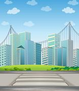 Tall buildings in the city - stock illustration