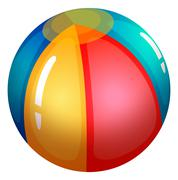 Stock Illustration of An inflatable beach ball