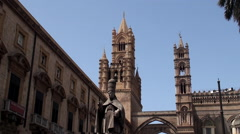 Palermo Cathedral. Sicily, Italy. Stock Footage