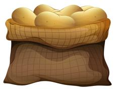 A sack of potatoes - stock illustration