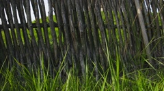 Rustic fence, shoot with slider Stock Footage