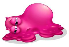 A frustrated pink monster Stock Illustration