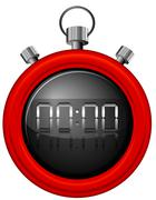 A red timer - stock illustration