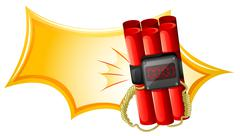 Stock Illustration of An explosive weapon with a timer