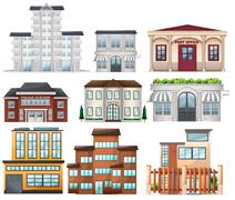 Big buildings - stock illustration