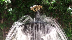 Fountain in Spanish Quarter of Marsala city. Sicily Stock Footage